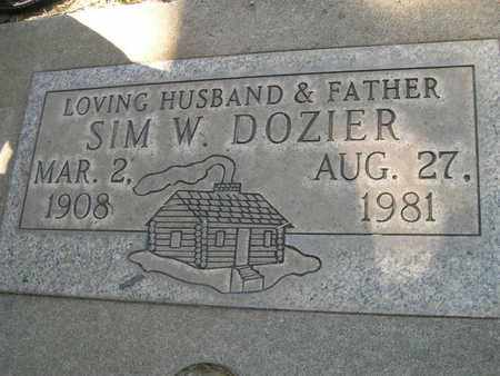 DOZIER, SIM WARREN - Butte County, California | SIM WARREN DOZIER - California Gravestone Photos