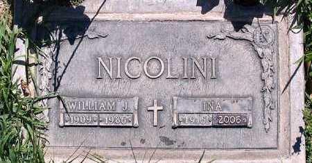 NICOLONI, WILLIAM J. - Fresno County, California | WILLIAM J. NICOLONI - California Gravestone Photos