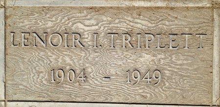 LEONARD TRIPLET, LENOIR - Fresno County, California | LENOIR LEONARD TRIPLET - California Gravestone Photos