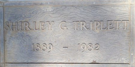 "TRIPLETT, SHIRLEY ""TRIP"" - Fresno County, California 
