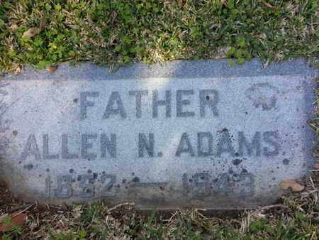 ADAMS, ALLEN N. - Los Angeles County, California | ALLEN N. ADAMS - California Gravestone Photos