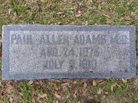 ADAMS, MD, PAUL ALLEN - Los Angeles County, California | PAUL ALLEN ADAMS, MD - California Gravestone Photos