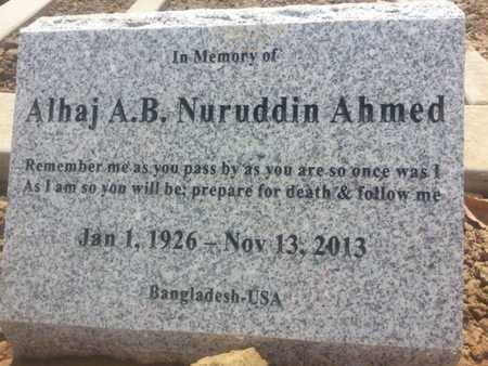 AHMED, ALHAJ - Los Angeles County, California | ALHAJ AHMED - California Gravestone Photos