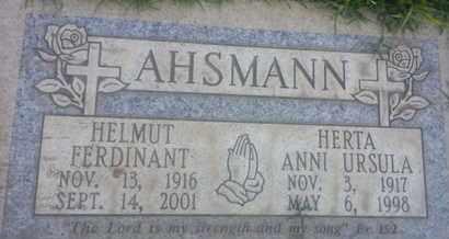 AHSMANN, HELMUT - Los Angeles County, California | HELMUT AHSMANN - California Gravestone Photos