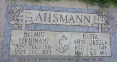AHSMANN, HERTA - Los Angeles County, California | HERTA AHSMANN - California Gravestone Photos