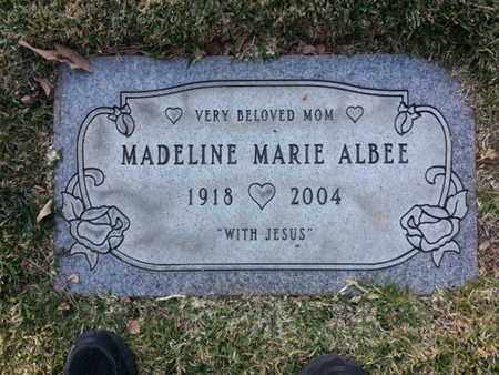 ALBEE, MADELINE MARIE - Los Angeles County, California   MADELINE MARIE ALBEE - California Gravestone Photos