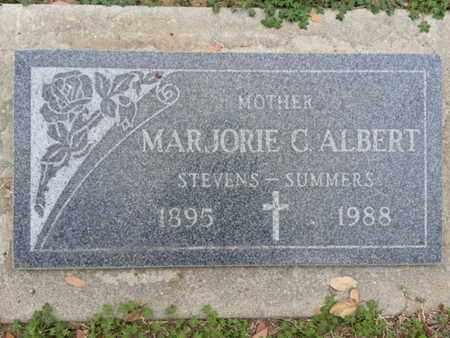 ALBERT, MARTORIE C. - Los Angeles County, California | MARTORIE C. ALBERT - California Gravestone Photos
