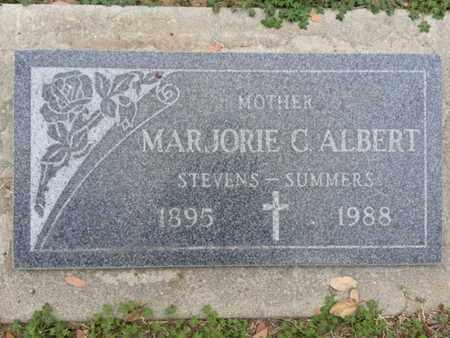 ALBERT, MARJORIE C - Los Angeles County, California | MARJORIE C ALBERT - California Gravestone Photos