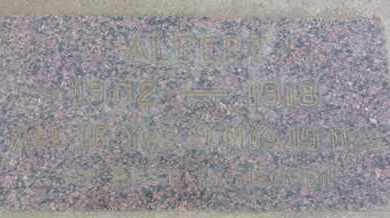 ALBERT, UNKNOWN - Los Angeles County, California | UNKNOWN ALBERT - California Gravestone Photos