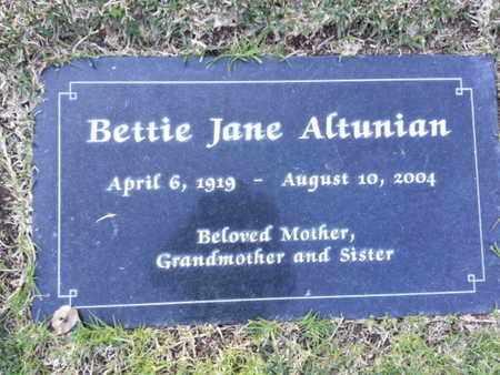 ALTUNIAN, BETTIE JANE - Los Angeles County, California | BETTIE JANE ALTUNIAN - California Gravestone Photos