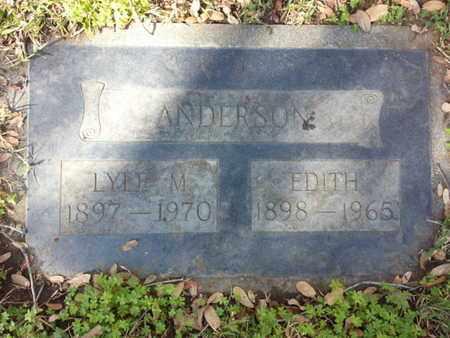 ANDERSON, EDITH - Los Angeles County, California   EDITH ANDERSON - California Gravestone Photos