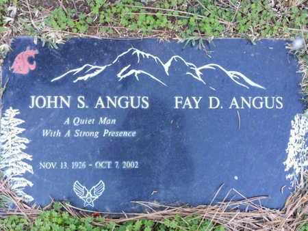 ANGUS, JOHN S. - Los Angeles County, California | JOHN S. ANGUS - California Gravestone Photos