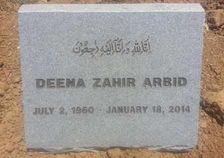 ARBID, DEENA - Los Angeles County, California   DEENA ARBID - California Gravestone Photos