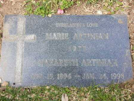 ARTINIAN, MARIE - Los Angeles County, California   MARIE ARTINIAN - California Gravestone Photos