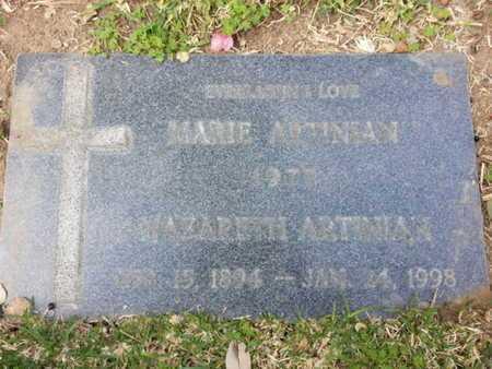 ARTINIAN, NAZARETH - Los Angeles County, California | NAZARETH ARTINIAN - California Gravestone Photos