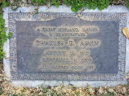 ASKIN, CHARLES E. - Los Angeles County, California   CHARLES E. ASKIN - California Gravestone Photos