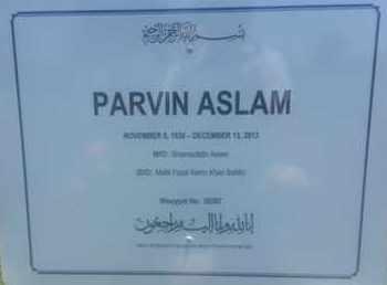 ASLAM, PARVIN - Los Angeles County, California | PARVIN ASLAM - California Gravestone Photos