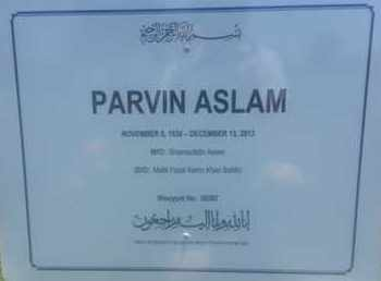 ASLAM, PARVIN - Los Angeles County, California | PARVIN ASLAM - California Gravestone Photos