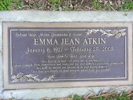 ATKIN, EMMA JEAN - Los Angeles County, California | EMMA JEAN ATKIN - California Gravestone Photos