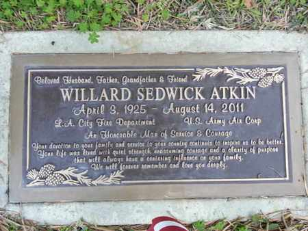 ATKIN, WILLARD SEDWICK - Los Angeles County, California | WILLARD SEDWICK ATKIN - California Gravestone Photos