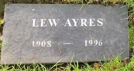 AYRES, LEW  [ACTOR] - Los Angeles County, California   LEW  [ACTOR] AYRES - California Gravestone Photos