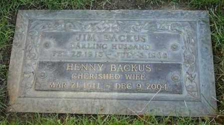 "KAYE BACKUS, HENRIETTA ""HENNY"" - Los Angeles County, California | HENRIETTA ""HENNY"" KAYE BACKUS - California Gravestone Photos"