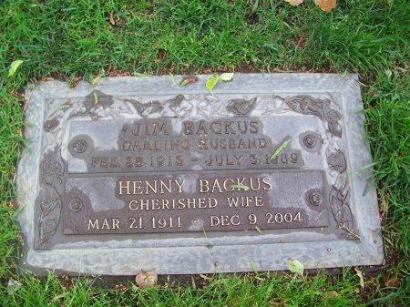 BACKUS, HENNY - Los Angeles County, California | HENNY BACKUS - California Gravestone Photos