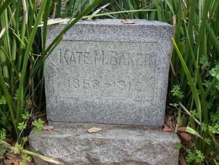 BAKER, KATE M. - Los Angeles County, California | KATE M. BAKER - California Gravestone Photos