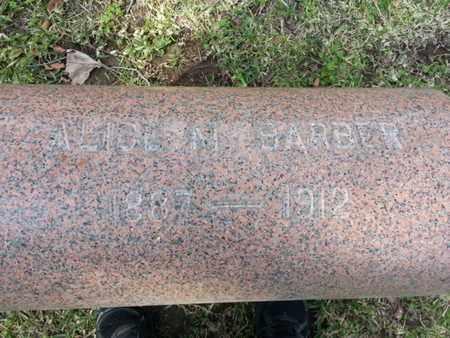 BARBER, ALICE M. - Los Angeles County, California | ALICE M. BARBER - California Gravestone Photos