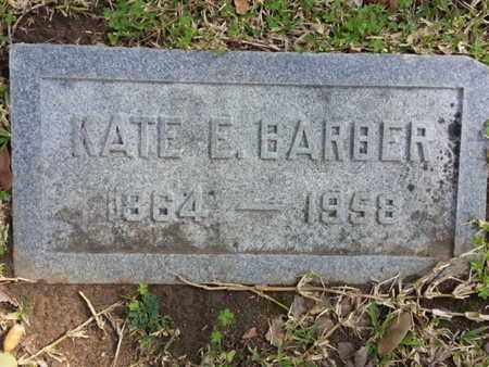 BARBER, KATE E. - Los Angeles County, California | KATE E. BARBER - California Gravestone Photos