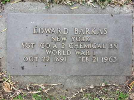 BARKAS, EDWARD - Los Angeles County, California | EDWARD BARKAS - California Gravestone Photos