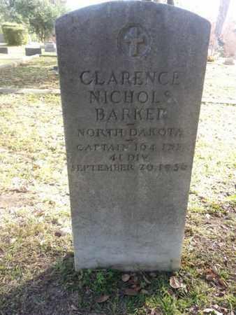 BARKER, CLARENCE NICHOLS  (VET) - Los Angeles County, California | CLARENCE NICHOLS  (VET) BARKER - California Gravestone Photos