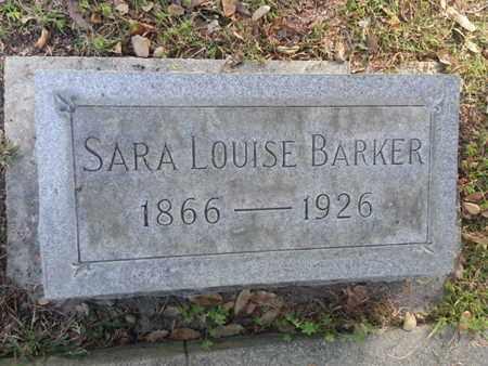 BARKER, SARA LOUISE - Los Angeles County, California   SARA LOUISE BARKER - California Gravestone Photos