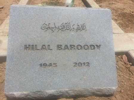 BAROODY, HILAL - Los Angeles County, California   HILAL BAROODY - California Gravestone Photos