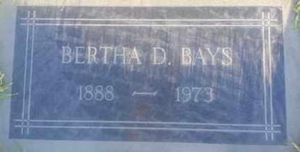 BAYS, BERTHA - Los Angeles County, California | BERTHA BAYS - California Gravestone Photos