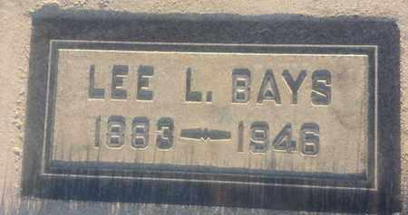 BAYS, LEE - Los Angeles County, California   LEE BAYS - California Gravestone Photos
