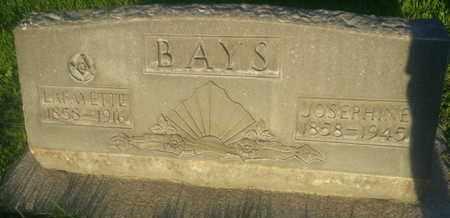 BAYS, JOSEPHINE - Los Angeles County, California | JOSEPHINE BAYS - California Gravestone Photos
