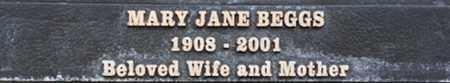 BEGGS, MARY JANE - Los Angeles County, California   MARY JANE BEGGS - California Gravestone Photos