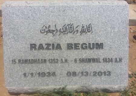 BEGUM, RAZIA - Los Angeles County, California | RAZIA BEGUM - California Gravestone Photos