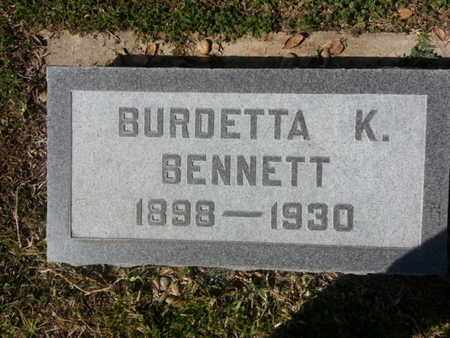 BENNETT, BURDETTA K. - Los Angeles County, California | BURDETTA K. BENNETT - California Gravestone Photos