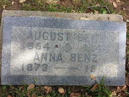 BENZ, AUGUST - Los Angeles County, California   AUGUST BENZ - California Gravestone Photos
