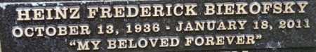 BIEKOFSKY, HEINZ FREDERICK - Los Angeles County, California | HEINZ FREDERICK BIEKOFSKY - California Gravestone Photos