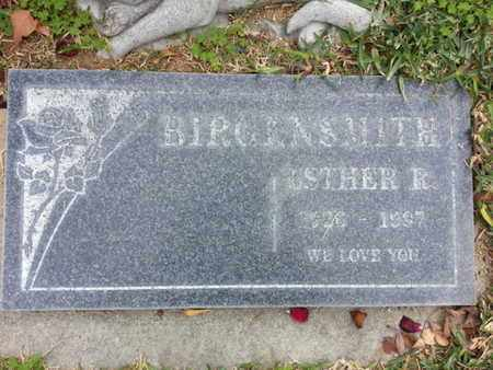 BIRGENSMITH, ESTHER R. - Los Angeles County, California | ESTHER R. BIRGENSMITH - California Gravestone Photos