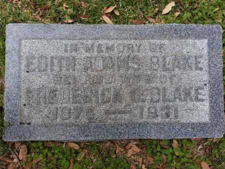 ADAMS BLAKE, EDITH - Los Angeles County, California   EDITH ADAMS BLAKE - California Gravestone Photos