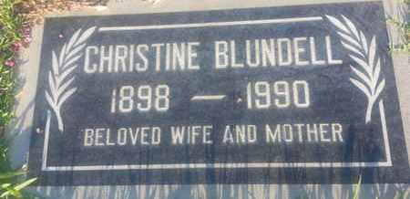 BLUNDELL, CHRISTINE - Los Angeles County, California | CHRISTINE BLUNDELL - California Gravestone Photos