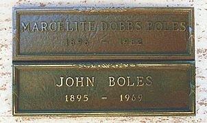 DOBBS BOLES, MARCELITE - Los Angeles County, California | MARCELITE DOBBS BOLES - California Gravestone Photos
