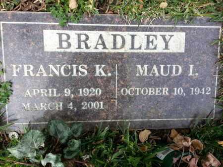 BRADLEY, MAUD I. - Los Angeles County, California | MAUD I. BRADLEY - California Gravestone Photos