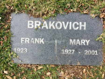 BRAKOVICH, FRANK - Los Angeles County, California | FRANK BRAKOVICH - California Gravestone Photos