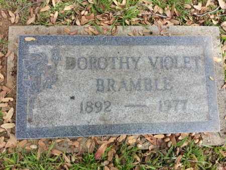 BRAMBLE, DOROTHY VIOLET - Los Angeles County, California | DOROTHY VIOLET BRAMBLE - California Gravestone Photos