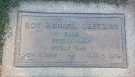 BRETZIUS, ROY - Los Angeles County, California   ROY BRETZIUS - California Gravestone Photos